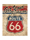 Route 66 II Giclee Print by N Harbick