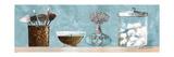 Blue Bath Panel I Reproduction giclée Premium par Gregory Gorham