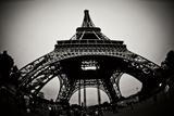 Eiffel Tower Fisheye Fotografisk tryk af Erin Berzel
