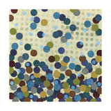 Polka Dot Blues I Art by Jeni Lee