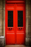 Red Door in Paris Photographic Print by Erin Berzel
