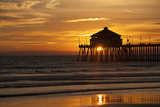 Sunset Under the Pier Photographic Print by George Johnson