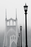 BW Light on the Bridge III Photographic Print by Erin Berzel
