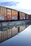 Rail Art Reflections Photographic Print by Douglas Taylor