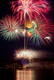 Poulsbo Fireworks II Photographic Print by Kathy Mahan