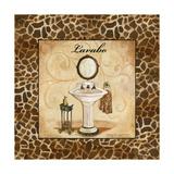 Giraffe Lavabo Premium Giclée-tryk af Gregory Gorham