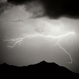 Mountain Lightning Sq BW Photographic Print by Douglas Taylor
