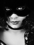 Black Mask Photographic Print by Eugenia Kyriakopoulou