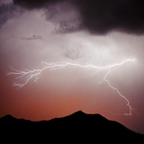 Mountian Lightning Sq Photographic Print by Douglas Taylor