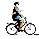 Frenchman on Bicycle Photographic Print by Gary Waters