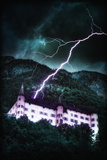 Lightning over the Castle Photographic Print by Ricardo Demurez