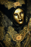 Black and Gold Mask Photographic Print by Ursula Kuprat