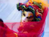 Harlequin in Multicoloured Costume 2 Photographic Print by Ursula Kuprat
