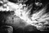 Adobe Church in the Clouds Photographic Print by Dolores Smart