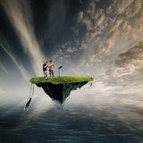 Island Music Photographic Print by Christine Ellger