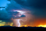 Sunset Thunderstorm Photographic Print by Douglas Taylor