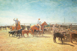 The Calf Ropers Photographic Print by Roberta Murray
