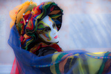 Harlequin in Multicoloured Costume 1 Photographic Print by Ursula Kuprat