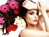 Flowers in Her Hair 5 Photographic Print by Svetlana Muradova