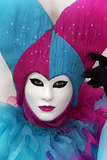 Harlequin in Purple and Blue Photographic Print by Ursula Kuprat