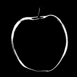Black and White Apple Photographic Print by Max Hertlischka