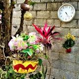 Clock and Flowers Photographic Print by Ronaldo Pichardo