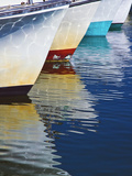Boats and Reflections Photographic Print by Linda Mann