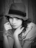 Carmen in a Hat II Photographic Print by Eugenia Kyriakopoulou