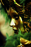 Green and Gold Mask Photographic Print by Ursula Kuprat