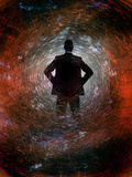 Man and Vortex Photographic Print by Gary Waters