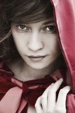 Carmen in a Red Hood Photographic Print by Eugenia Kyriakopoulou