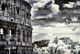 Coliseum and Birds, Rome Photographic Print by Dolores Smart
