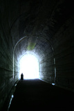 Man in Tunnel Photographic Print by Gary Waters