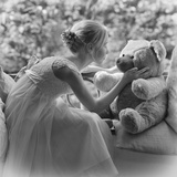Fille and Nounours Photographic Print by Florence Menu