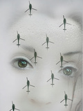 Face and Helicopter Photographic Print by Gary Waters