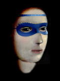 Blue Mask Photographic Print by Gary Waters