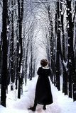 Girl and Winter Photographic Print by Gary Waters