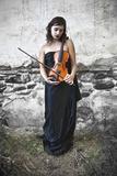 The VIolin Player Fotoprint van Eugenia Kyriakopoulou