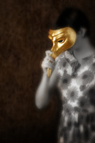 Woman in Gold Mask Photographic Print by Ricardo Demurez