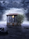 Solitary House Photographic Print by Daniela Owergoor