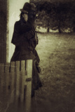 Woman in a Black Coat 4 Photographic Print by Svetlana Sewell