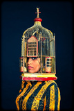 Woman with a Birdcage 2 Photographic Print by Max Hertlischka