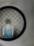 Woman in Mirror Photographic Print by Gary Waters