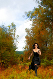 Woman in a Black Dress 1 Photographic Print by Svetlana Sewell