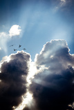 Sun Rays Between Clouds Photographic Print by Phil Payne