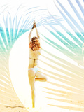 Yoga on the Beach Photographic Print by Dolores Smart