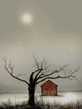 Spooky House Photographic Print by Gary Waters