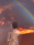 Woman and Rainbow Photographic Print by Gary Waters