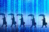 Binary Rain Photographic Print by Gary Waters