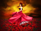 Woman and Poppies Photographic Print by Svetlana Sewell